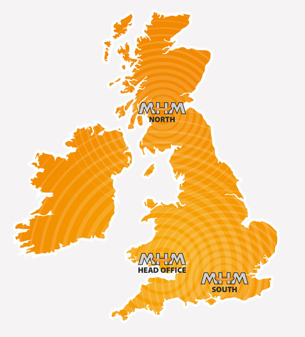 MHM National UK & IRELAND Coverage map
