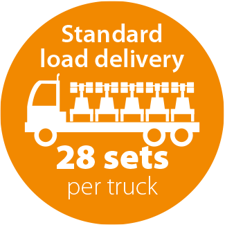 standard load delivery 28 per truck